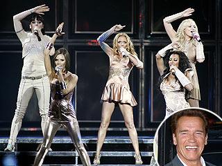 Gov. Arnold Schwarzenegger Hits Spice Girls Concert
