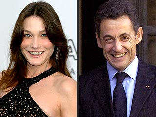 French President Nicolas Sarkozy Steps Out with Carla Bruni