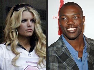 Terrell Owens and Jessica Simpson