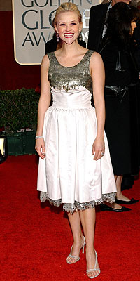 Which actress first wore the infamous Chanel frock that Reese Witherspoon donned to the 2006 Golden Globes?