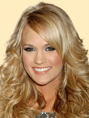 Carrie Underwood Short Curly Blonde Hairstyles