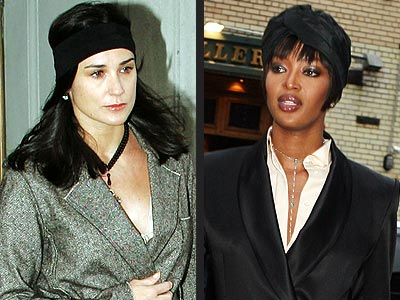 TURBANS photo | Demi Moore, Naomi Campbell