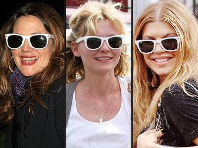 WHITE SUNGLASSES photo | Drew Barrymore, Fergie, Kirsten Dunst