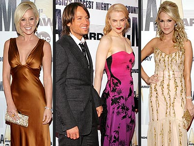 CMAs&#39; Red Carpet Stars | Carrie Underwood, Keith Urban, Nicole Kidman
