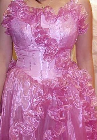 Pink White Bridal Dress 3