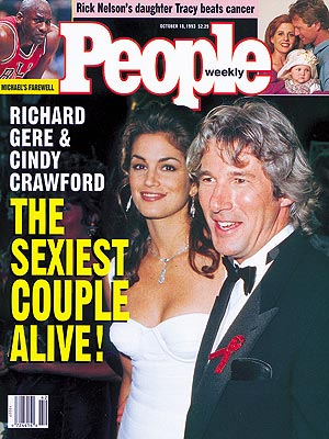 1993 photo | Cindy Crawford, Richard Gere