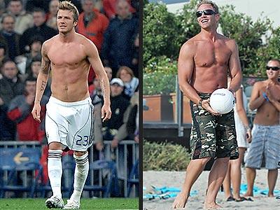 Whose Chest Is Best? Vote! | David Beckham, Ian Ziering