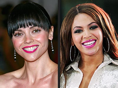 HOT PINK LIPS photo | Beyonce Knowles, Christina Ricci