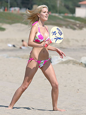 Heidi montag bikini playing beach volleyball