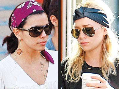 HAVE AN ARSENAL OF HAIR ACCESSORIES photo | Ashley Olsen, Eva Longoria