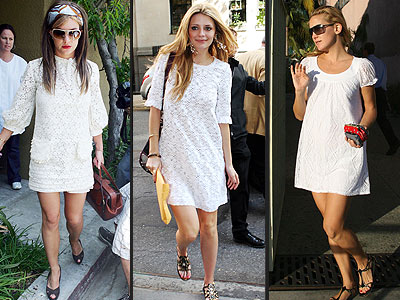 jessica alba white dress
