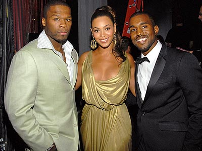 50 CENT, BEYONCE & KANYE WEST photo