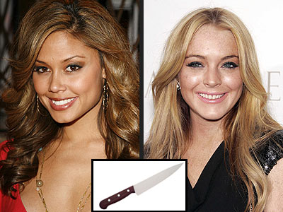 THE KNIFE SET photo | Lindsay Lohan, Vanessa Minnillo
