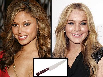 THE KNIFE SET photo | Lindsay Lohan, Vanessa Minnillo