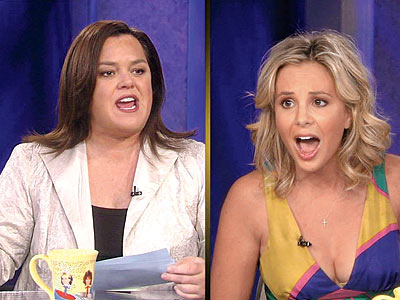 THE GREAT MUSTACHE CAPER photo | Elisabeth Hasselbeck, Rosie O'Donnell