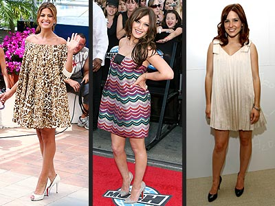 TENT DRESSES  photo | Eva Mendes, Hilary Duff, Sophia Bush