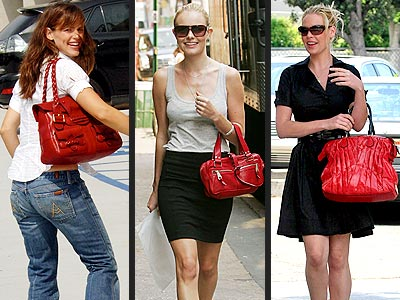 RED PURSES  photo | Jennifer Garner, Kate Bosworth, Katherine Heigl