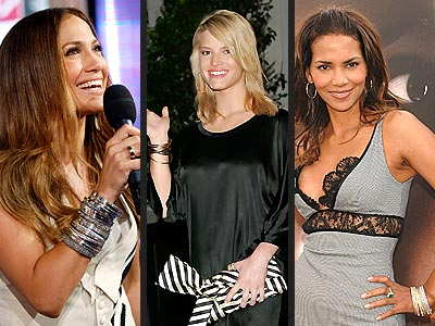 STACKED BANGLES  photo | Halle Berry, Jennifer Lopez, Jessica Simpson