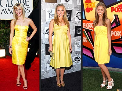 YELLOW DRESSES photo | Hayden Panettiere, Jessica Alba, Reese Witherspoon