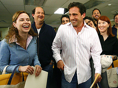 OFFICE PARTY  photo | Jenna Fischer, Steve Carell