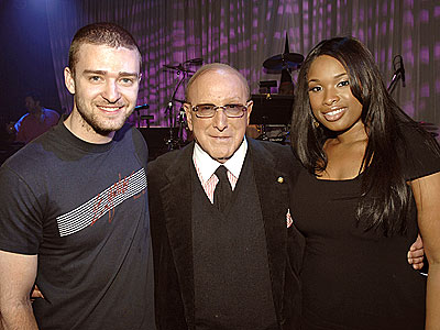 MAJOR PLAYERS  photo | Clive Davis, Jennifer Hudson, Justin Timberlake