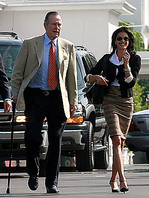 TIME OF THEIR LIVES  photo | George Bush, Teri Hatcher