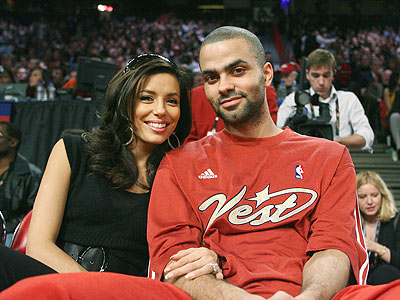 Tony and Eva at the NBA Allstar game