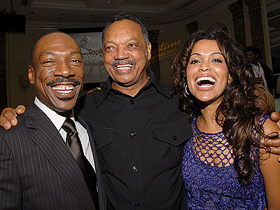 'POWER' HUDDLE  photo | Eddie Murphy, Jesse Jackson