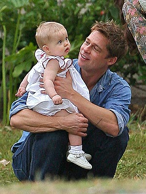 DADDY'S LITTLE GIRL  photo | Brad Pitt