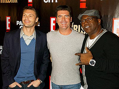 GUYS 'NEXT DOOR' photo | Randy Jackson, Ryan Seacrest, Simon Cowell