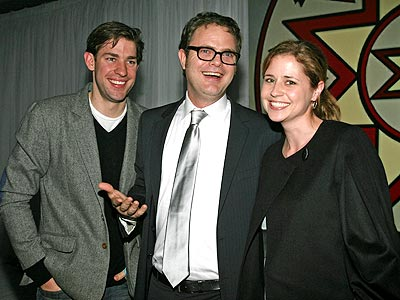 'OFFICE' PARTY photo | Jenna Fischer, John Krasinski, Rainn Wilson