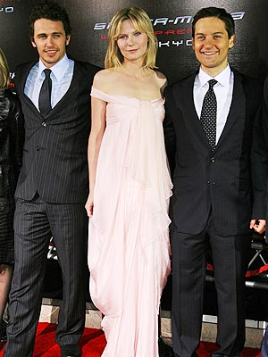 A THREE-PEAT photo | James Franco, Kirsten Dunst, Tobey Maguire