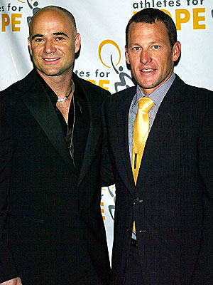 HOLDING COURT photo | Andre Agassi, Lance Armstrong