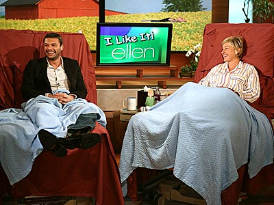 STRANGE BEDFELLOWS  photo | Ellen DeGeneres, Ryan Seacrest