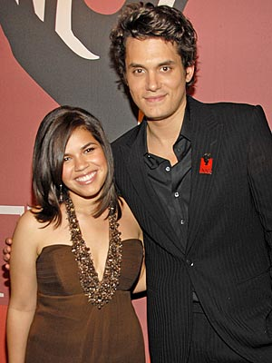 TIME TO PARTY photo | America Ferrera, John Mayer
