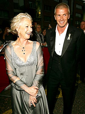 BIG SHOTS photo | David Beckham, Helen Mirren
