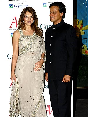 Arun nayar elizabeth hurley wedding dresses