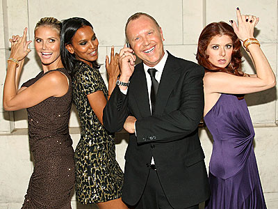 MICHAEL'S ANGELS photo | Debra Messing, Heidi Klum, Michael Kors