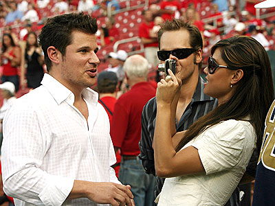 OUT TO THE BALL GAME photo | Nick Lachey, Vanessa Minnillo