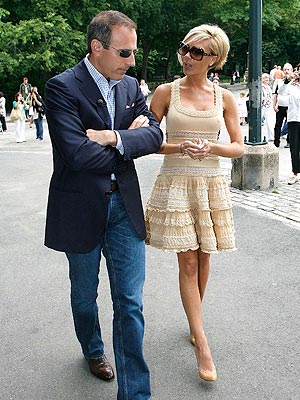 WALK IN THE PARK photo | Matt Lauer, Victoria Beckham