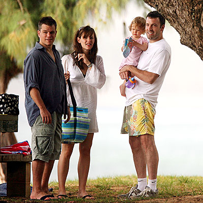 ALOHA REUNION photo | Ben Affleck, Jennifer Garner, Matt Damon