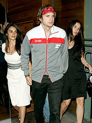 LEADER OF THE PACK  photo | Ashton Kutcher, Demi Moore, Penelope Cruz