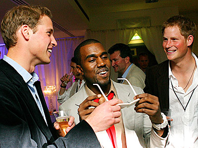 SPEC-TACULAR CAUSE photo | Kanye West, Prince Harry, Prince William