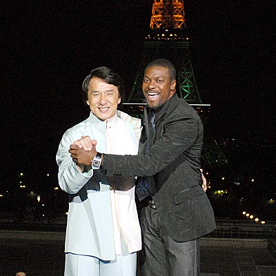Photo of Chris Tucker & his friend actor  Jackie Chan - Friday