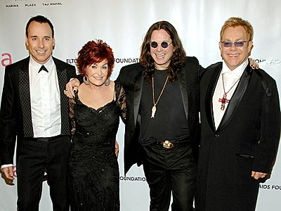 COUPLING UP photo | David Furnish, Elton John, Ozzy Osbourne, Sharon Osbourne