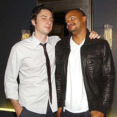 RESIDENT JOKESTERS photo | Donald Faison, Zach Braff
