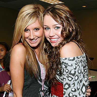 CHEEK TO CHEEK photo | Ashley Tisdale, Miley Cyrus