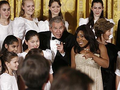 A HIGH POINT photo   George Bush