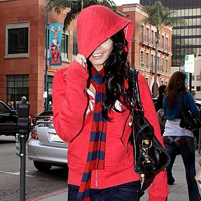 IN THE HOODIE photo | Vanessa Hudgens