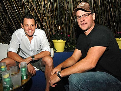 THE ART OF RELAXING photo | Lance Armstrong, Matt Damon